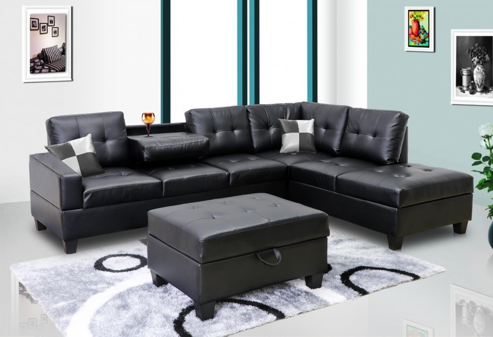 Sectional Sofas Pertaining To Faux Leather Sectional Sofas (View 7 of 10)