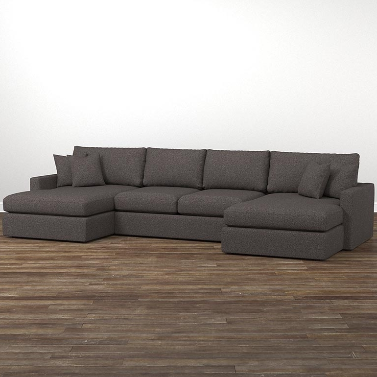 Sectional Sofas With 2 Chaises Regarding Widely Used Fabric Sectionals (View 4 of 10)