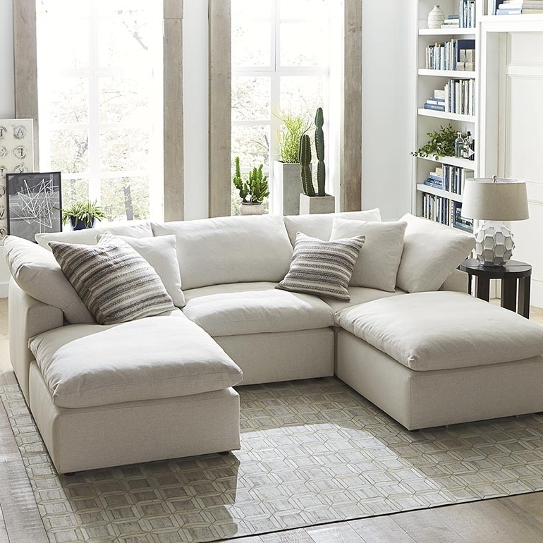 Sectional Sofas With 2 Chaises With Regard To Well Known Envelop Small Double Chaise Sectional (View 6 of 10)