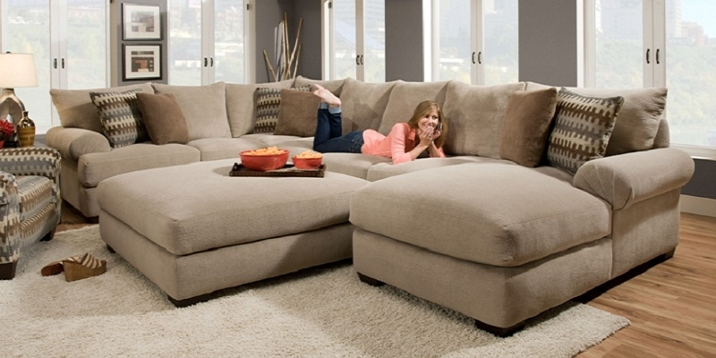Sectional Sofas With Oversized Ottoman Pertaining To 2017 Sectional Sofa With Oversized Ottoman – New 2018 / (View 7 of 10)