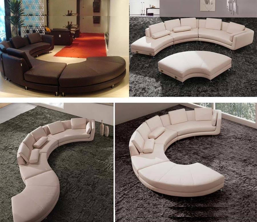 Sectionals Regarding Round Sofas (View 9 of 10)