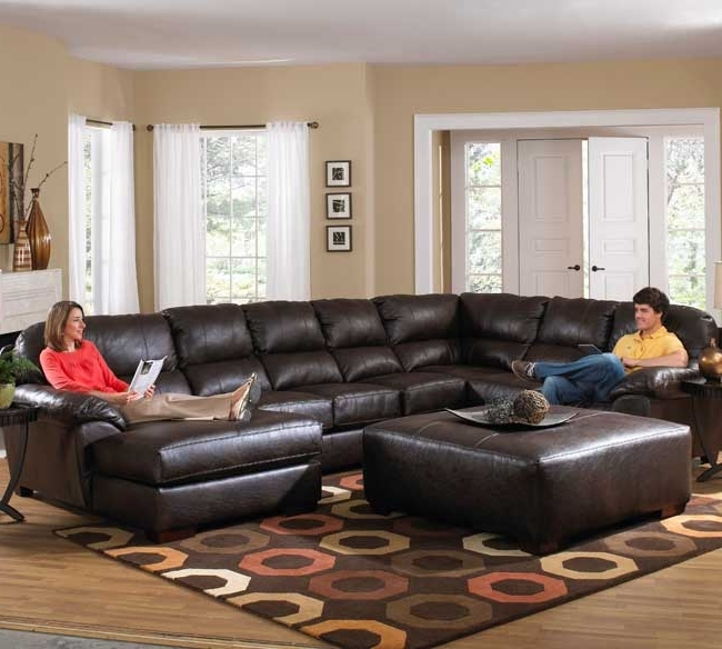 Sectionals With Chaise And Ottoman Regarding 2018 Awesome Leather Sectional With Chaise And Ottoman Ideas (View 9 of 10)