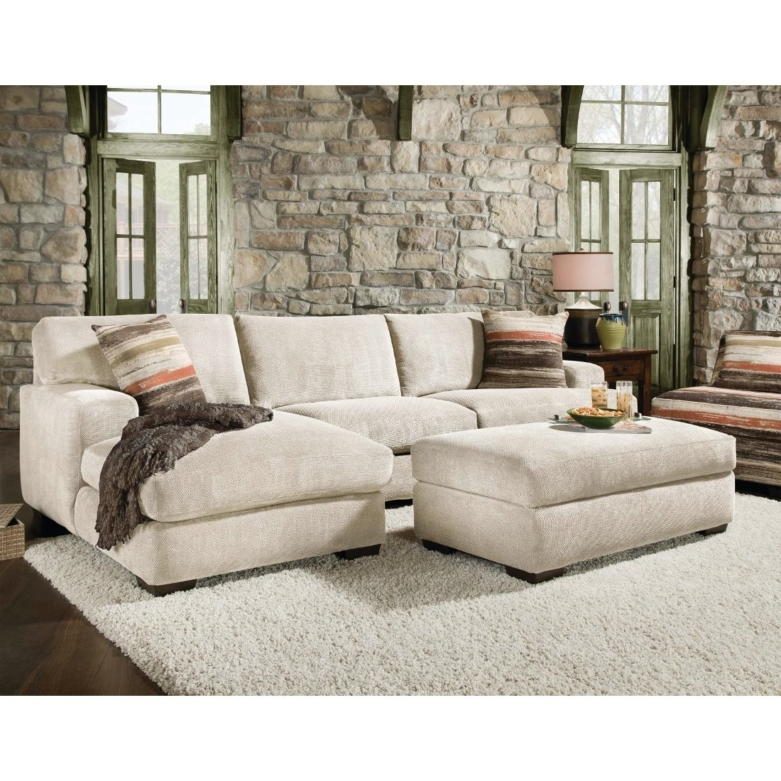 Sectionals With Chaise In Popular Corinthian Mead Sectional Sofa Piece (View 12 of 15)