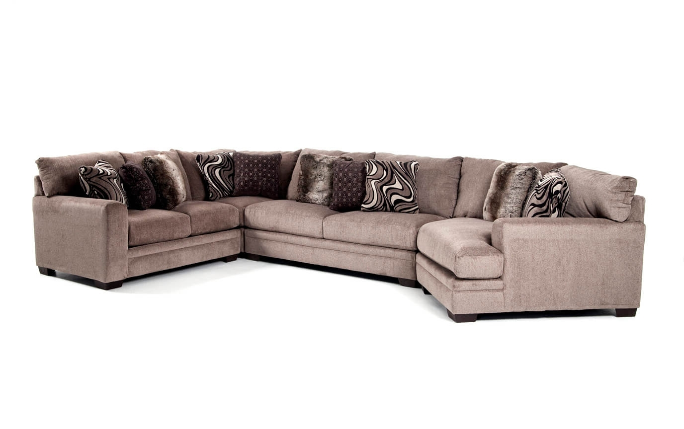 Sectionals With Cuddler And Chaise With Regard To Well Known Luxe 4 Piece Sectional With Cuddler Chaise (View 11 of 15)