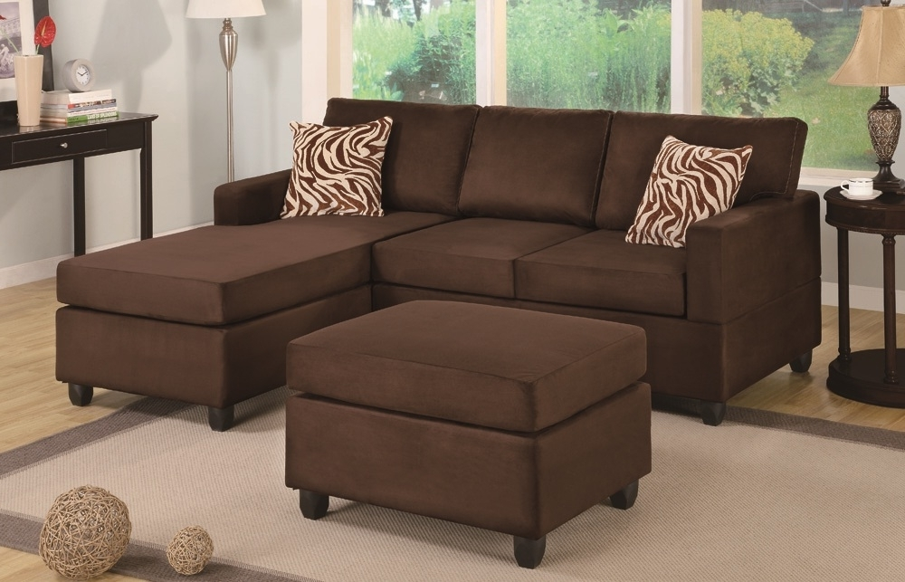 Sectionals With Ottoman Within 2017 Chocolate Sectional & Ottoman – Paradise Furniture (View 2 of 10)