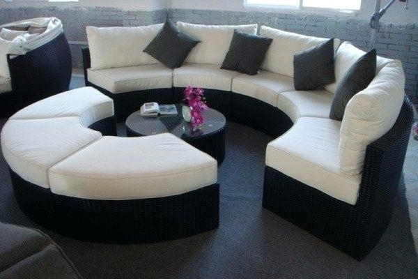 Semicircular Sofas With Famous Luxury Half Circle Couch Or Sofas Fabulous Round Lounge Couch Half (View 6 of 10)