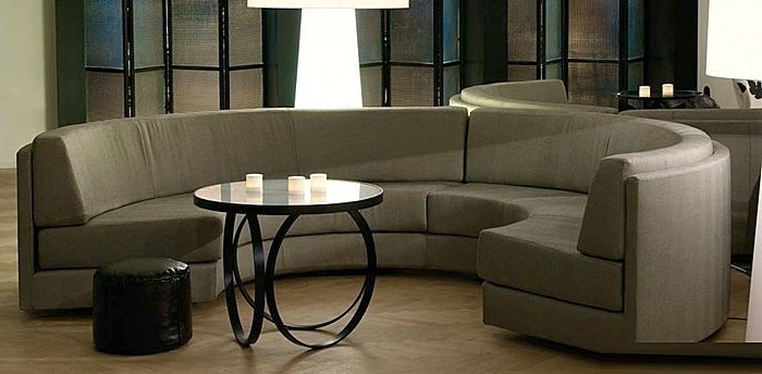 Semicircular Sofas With Preferred Semicircular Sofa / Contemporary / Fabric / 7 Seater And Up (View 7 of 10)