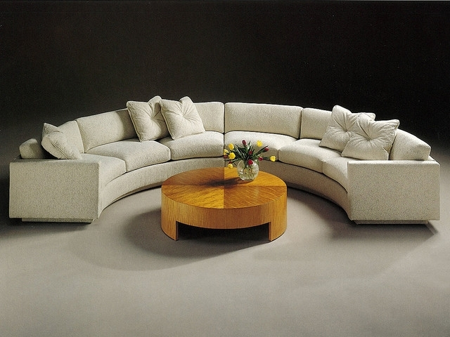 Semicircular Sofas With Regard To Well Liked Sectional Sofa Design: Elegant Semi Circular Sectional Sofa Milo (View 8 of 10)