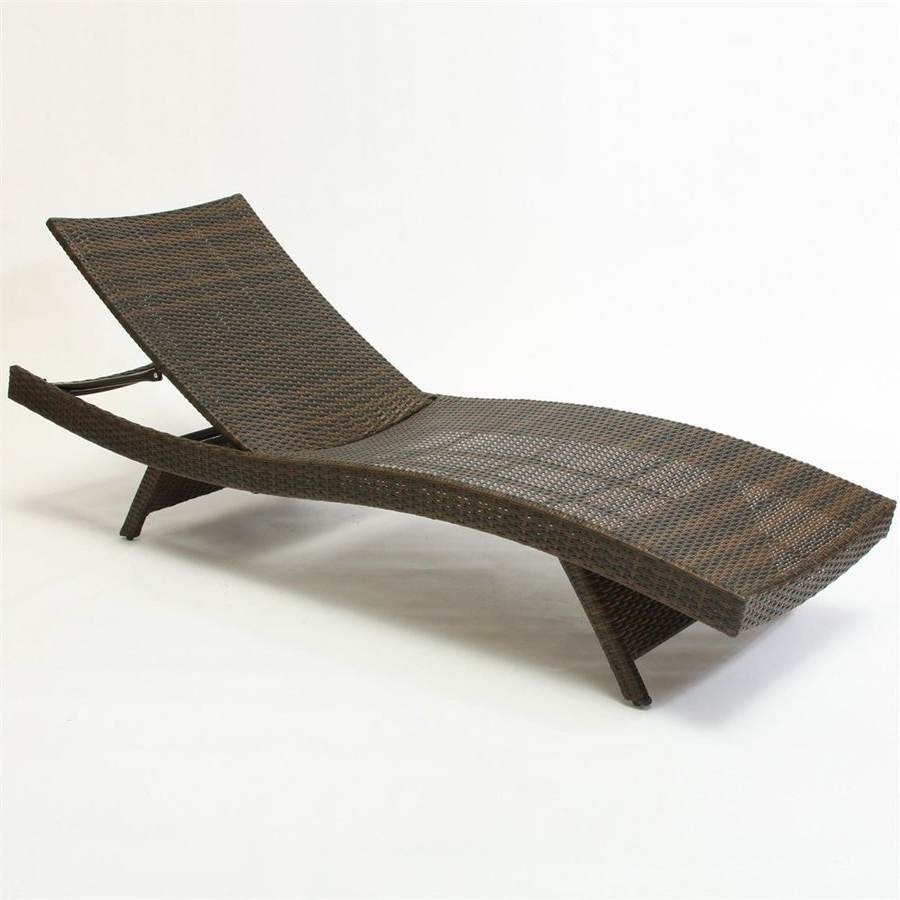 Shop Best Selling Home Decor Multi Brown Stackable Folding Patio Throughout Latest Lowes Chaise Lounges (View 4 of 15)