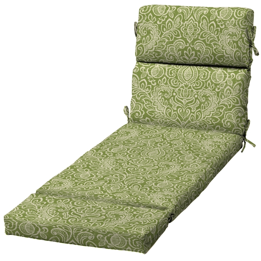 Shop Garden Treasures Green Stencil Damask Standard Patio Chair In Trendy Damask Chaise Lounge Chairs (View 13 of 15)