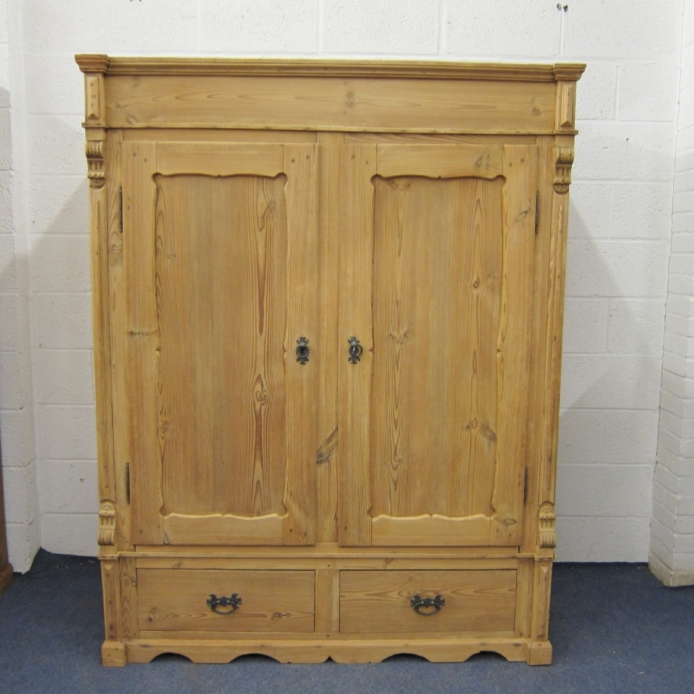 Short Wardrobes Inside Most Up To Date Short Antique Pine Wardrobe (dismantles) (View 4 of 15)