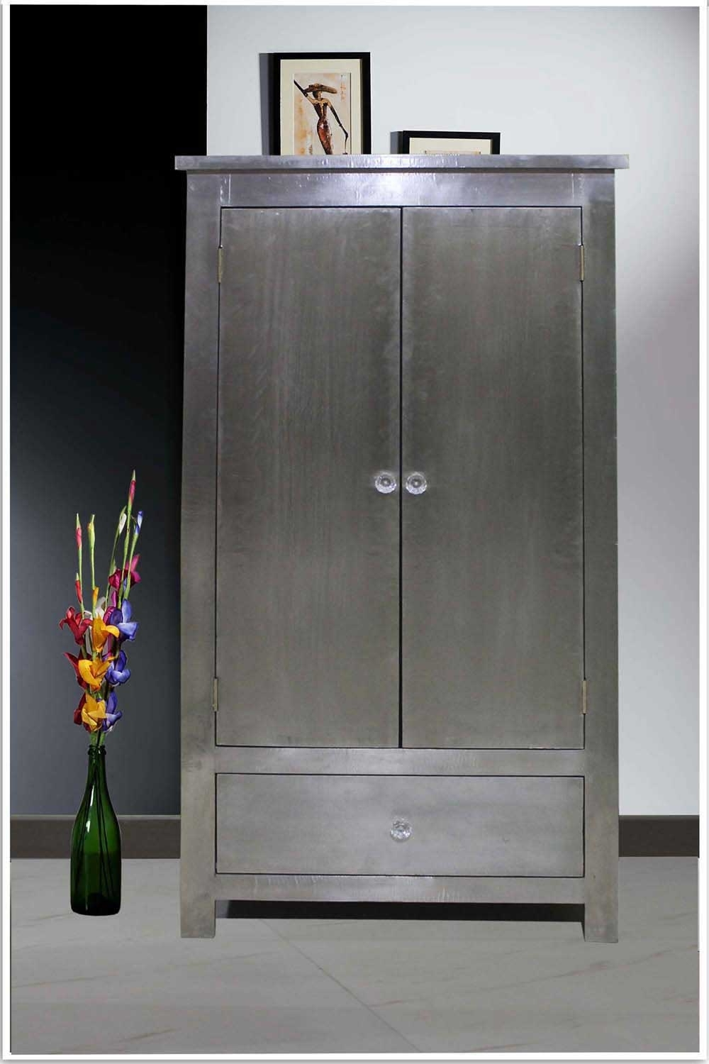 Silver Wardrobes Throughout Most Popular White Metal Wardrobe – White Metal Furniture Store (View 9 of 15)