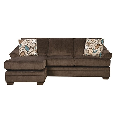 Simmons Chaise Sofas In Favorite Simmons® Sunflower Brown Sofa With Reversible Chaise At Big Lots (View 5 of 10)