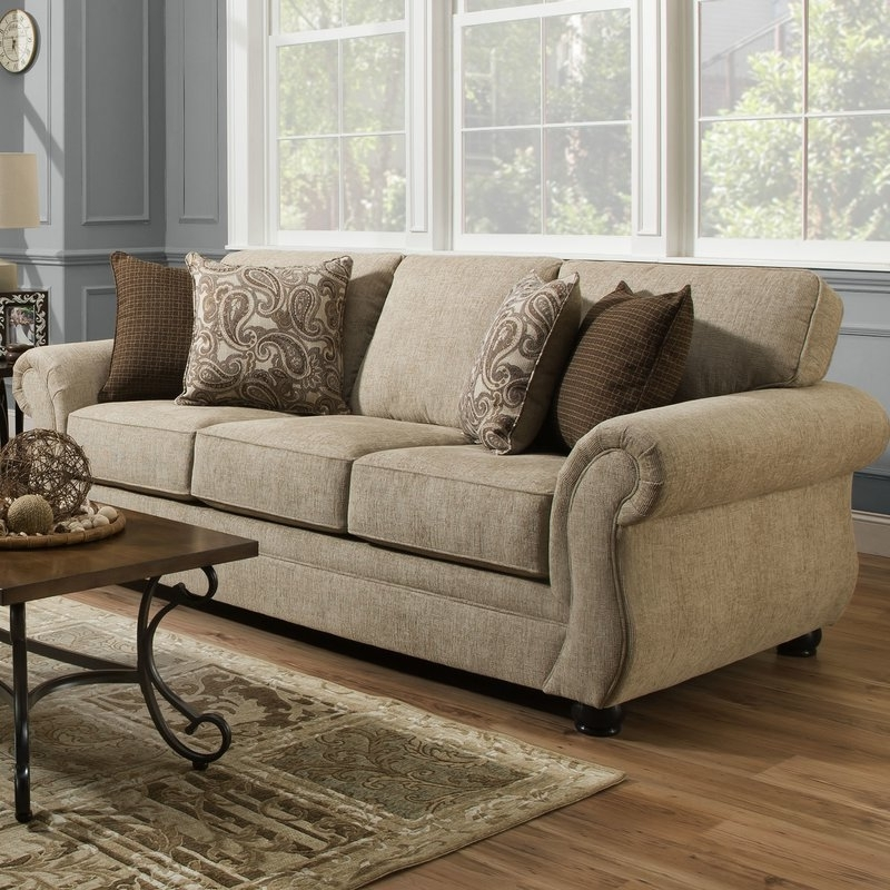 Simmons Chaise Sofas With Regard To Favorite Darby Home Co Simmons Vicki Parchment Queen Sleeper Sofa & Reviews (View 9 of 10)
