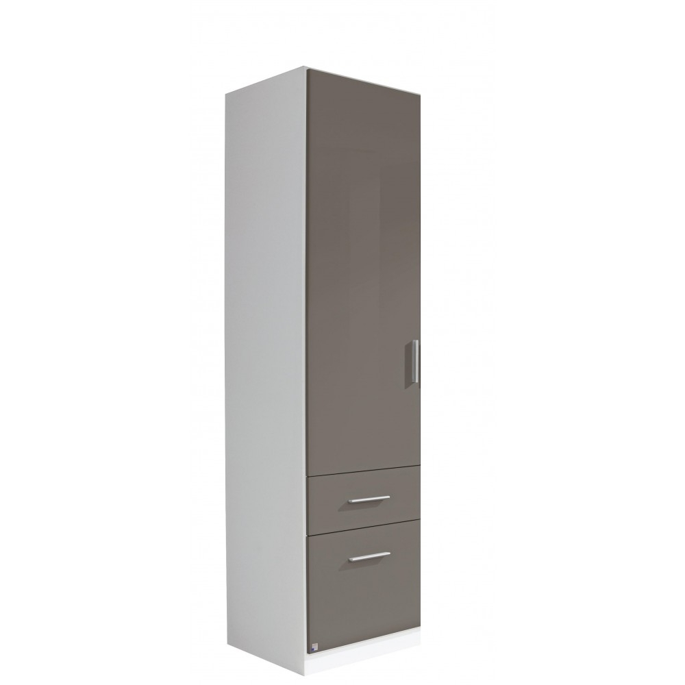 Single Black Wardrobes In Trendy High Gloss Lave Grey Shiny Fronted Wardrobes On Sale (View 3 of 15)