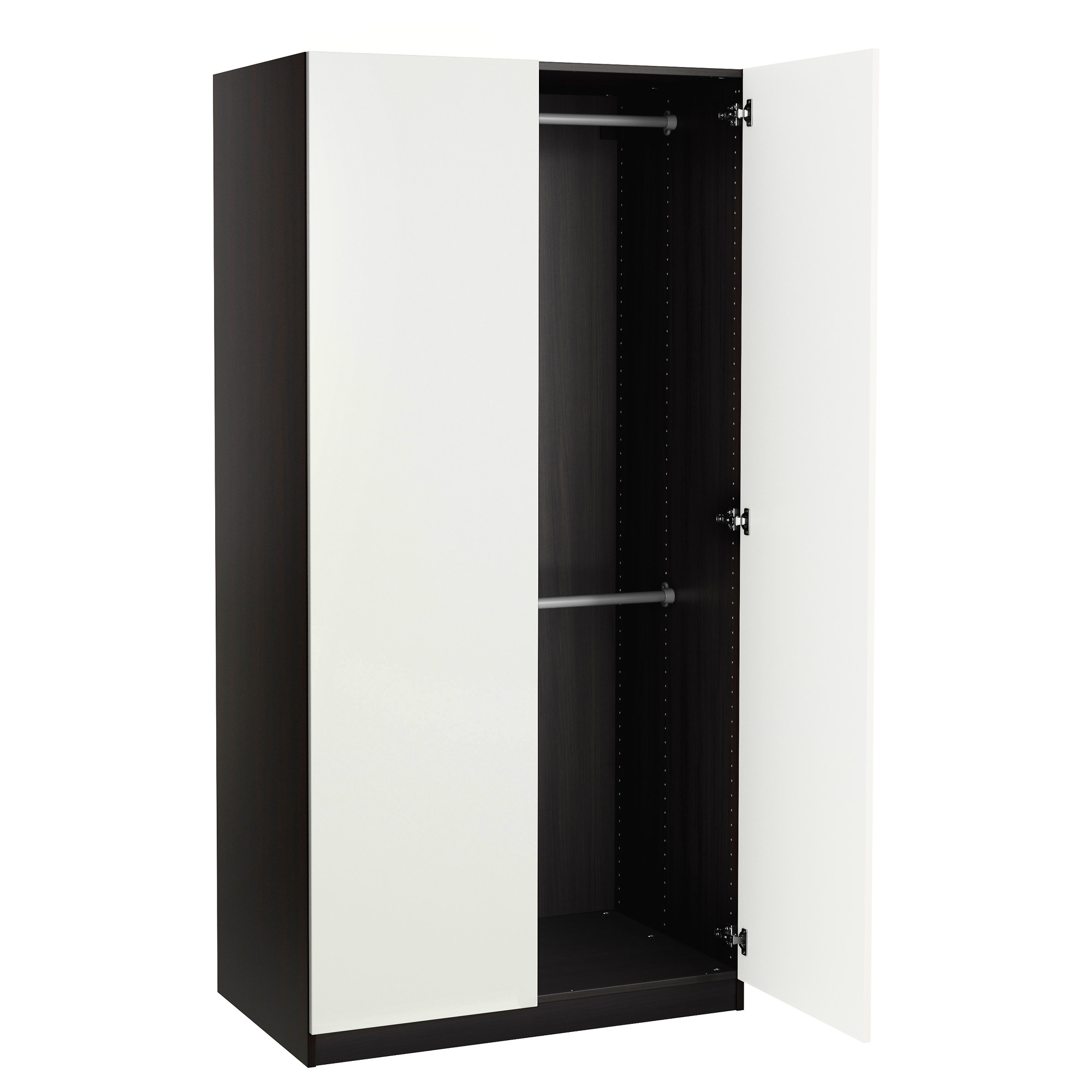 Single Black Wardrobes Intended For Trendy Pax Wardrobes (View 4 of 15)