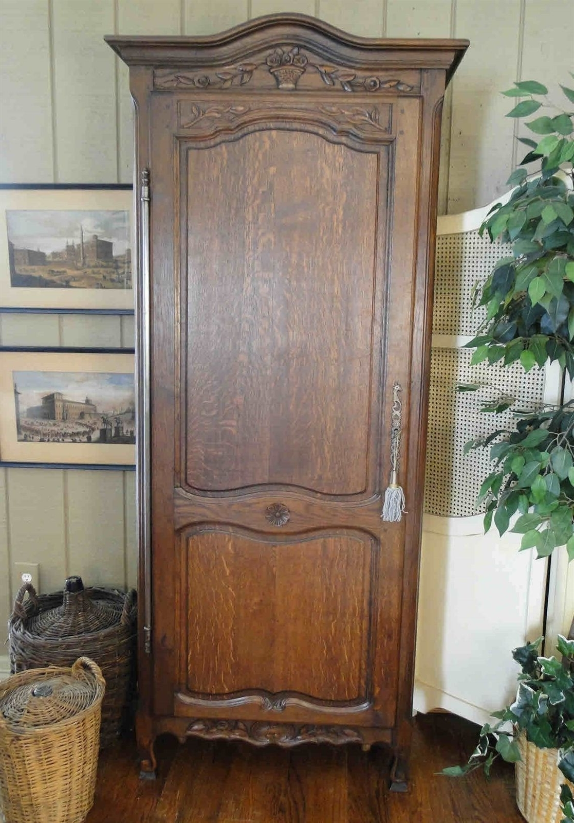 Single French Wardrobes For Most Current Image Result For Narrow Broyhill Country French Single Door (View 10 of 15)