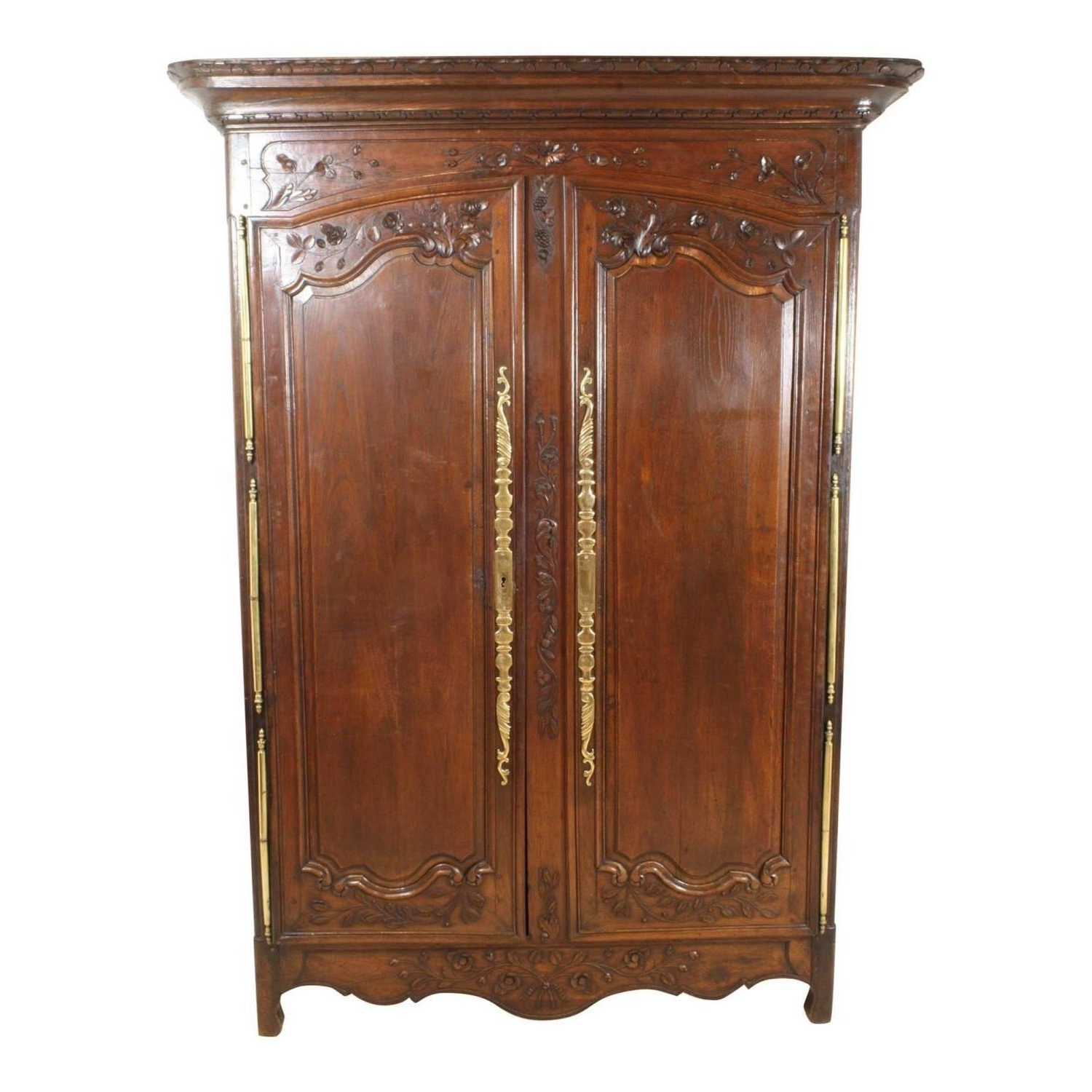 Single French Wardrobes Pertaining To Famous 18Th Century French Country Armoire For Sale At 1Stdibs (View 13 of 15)
