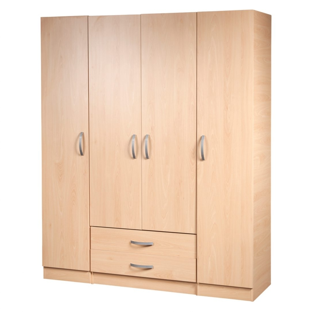 Single Pine Wardrobes With Drawers Throughout 2017 Narrow Wardrobe With Drawers Single Pine Tall Solid Wood This Is (View 6 of 15)