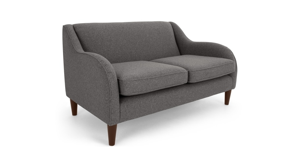 Single Seat Sofa Chairs Intended For Most Recent Helena 2 Seater Sofa, Textured Weave Smoke Grey (View 8 of 10)