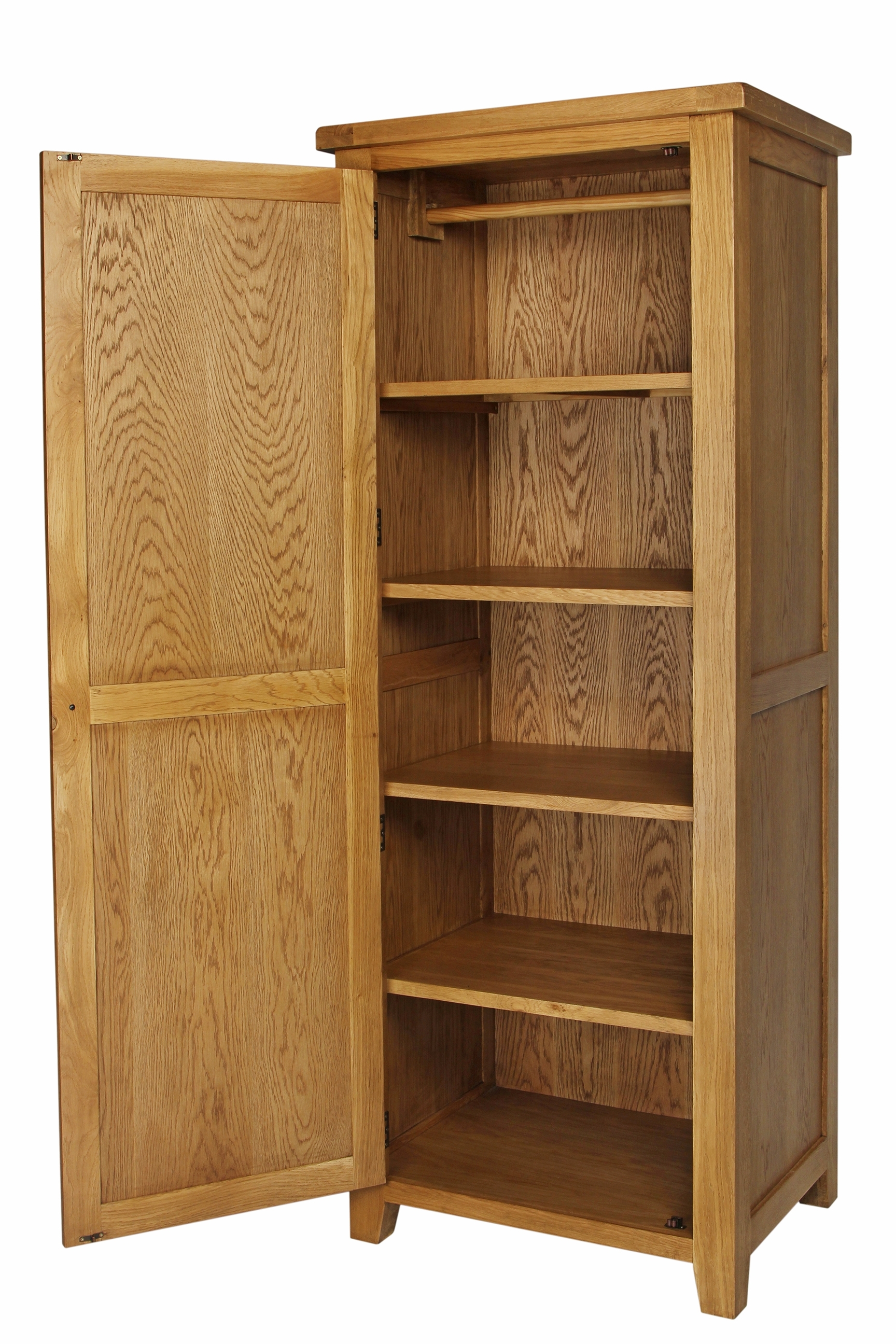 Single Wardrobes With Regard To Newest Oak Single Wardrobe – Furniture Importers (View 10 of 15)