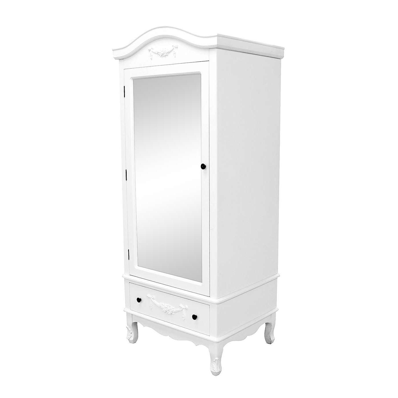 Single White Wardrobes With Regard To Well Known Toulouse White Single Wardrobe (View 13 of 15)
