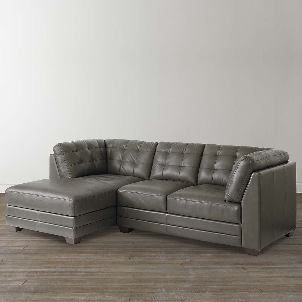 Slate Grey Leather Right Chairse Sectional Inside Most Recently Released Sectional Chaises (View 11 of 15)