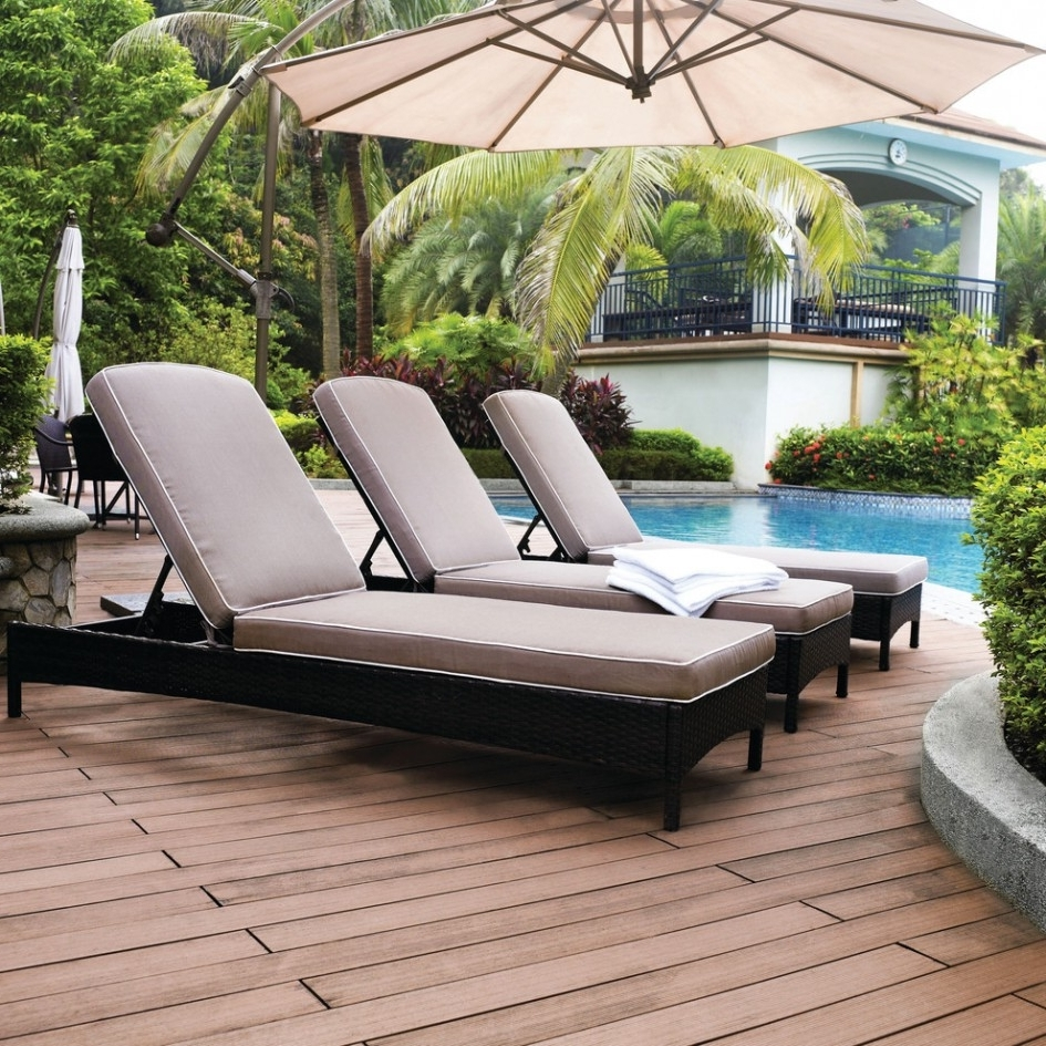 Sleek Outdoor Chaise Lounge Patio U0026 Outdoor Double Chaise Outdoor  Pertaining To Well Known Outdoor Pool
