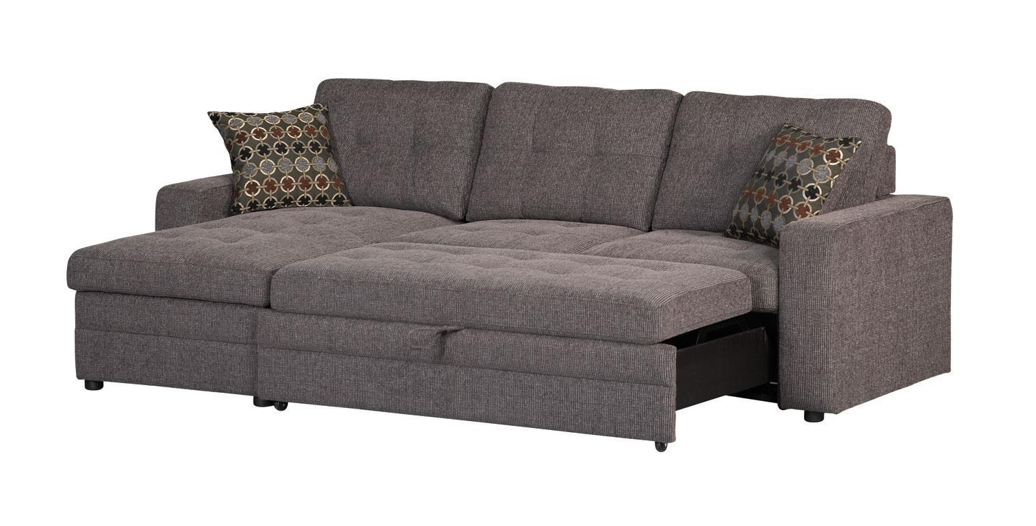 Sleeper Sofas With Chaise With Regard To Most Recently Released Gus Charcoal Sectional Sofa 501677 Coaster Furniture Sectional (View 12 of 15)