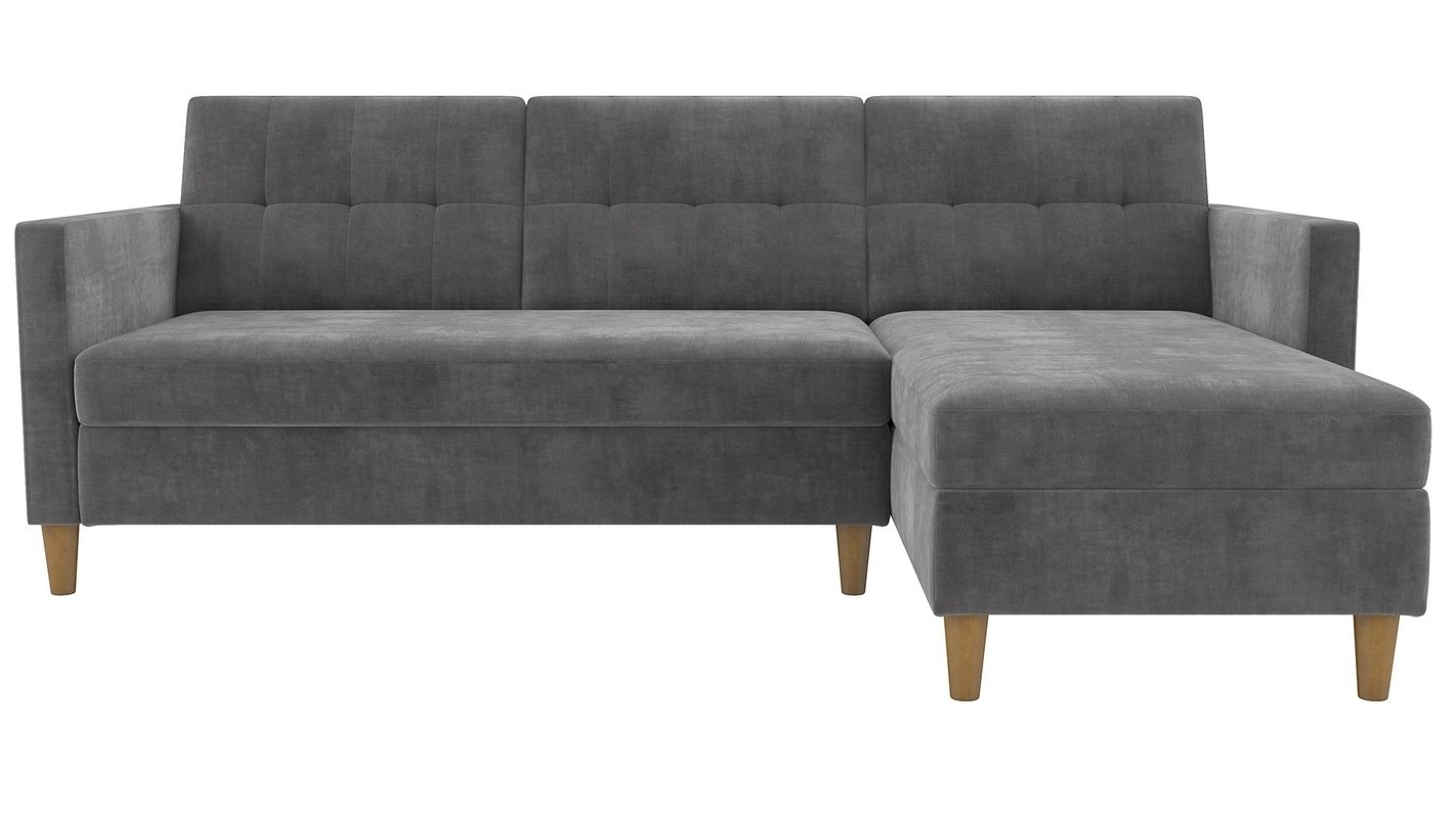 Sleeper Sofas With Chaise Within Favorite Stigall Reversible Sleeper Sectional & Reviews (View 7 of 15)