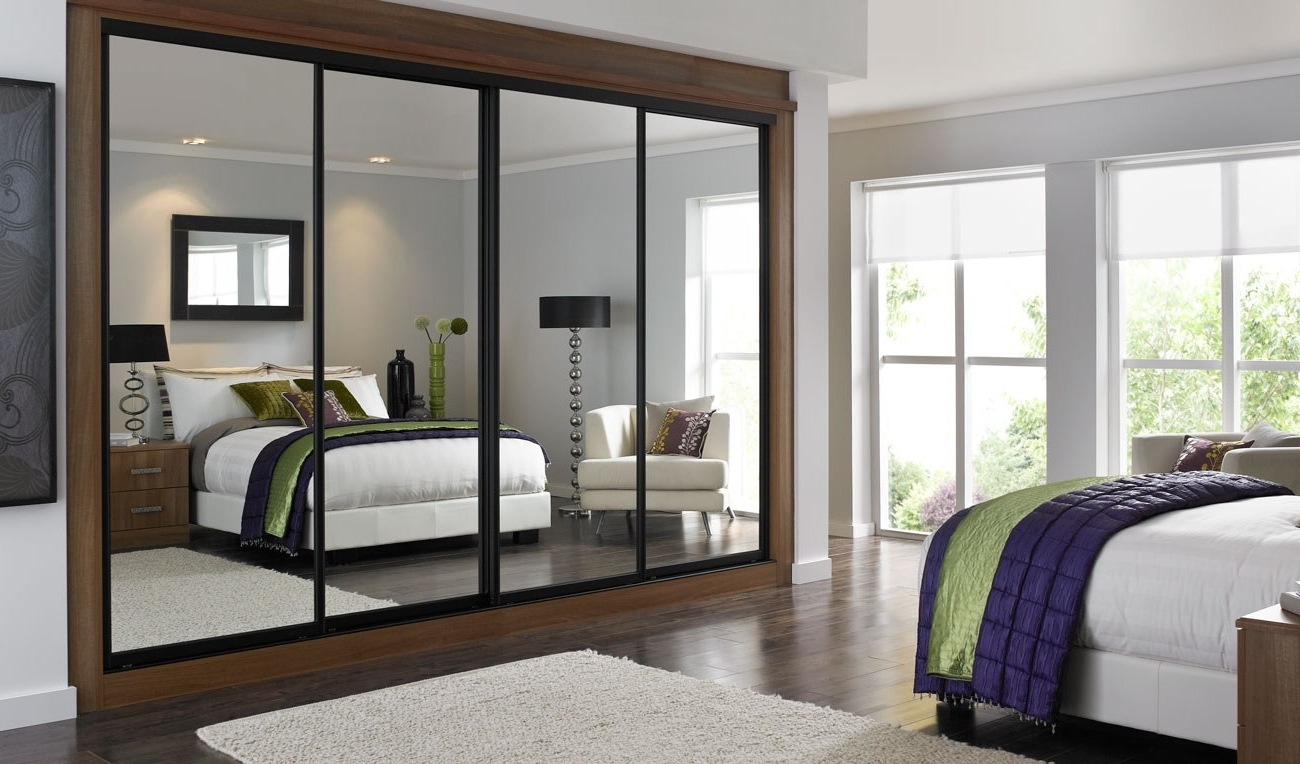 Sliding Door Mirrored Wardrobe Wardrobes Doors B&q Ikea Mirror Within Popular Full Mirrored Wardrobes (View 7 of 15)
