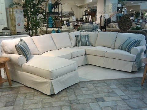 Slipcovers Sofas Inside Most Popular Slipcover For Sectional Sofa With Chaise – Youtube (View 8 of 10)
