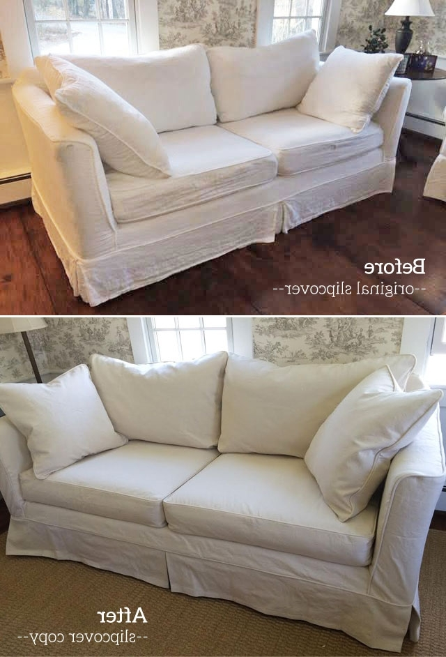 Slipcovers Sofas Pertaining To Fashionable Slipcover Copy For Mitchell Gold Sofa (View 9 of 10)