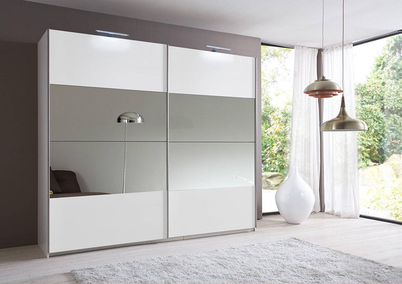 Slumberhaus Eleganz German Made 270cm Sliding Mirror Door Wardrobe Regarding Most Recent Full Mirrored Wardrobes (View 6 of 15)