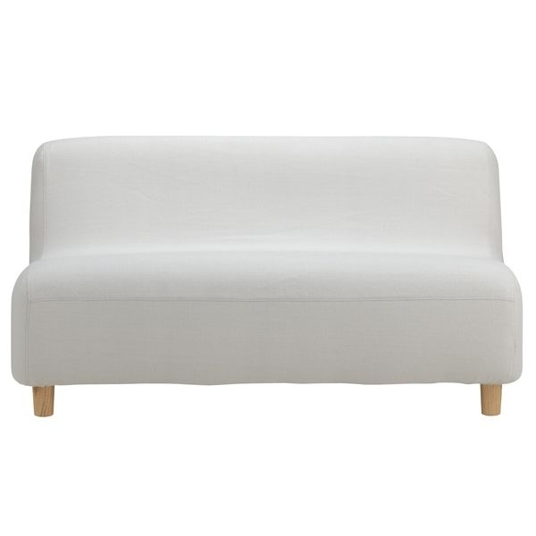 Small Armless Sofas Pertaining To Preferred Compact Sofamuji (View 7 of 10)