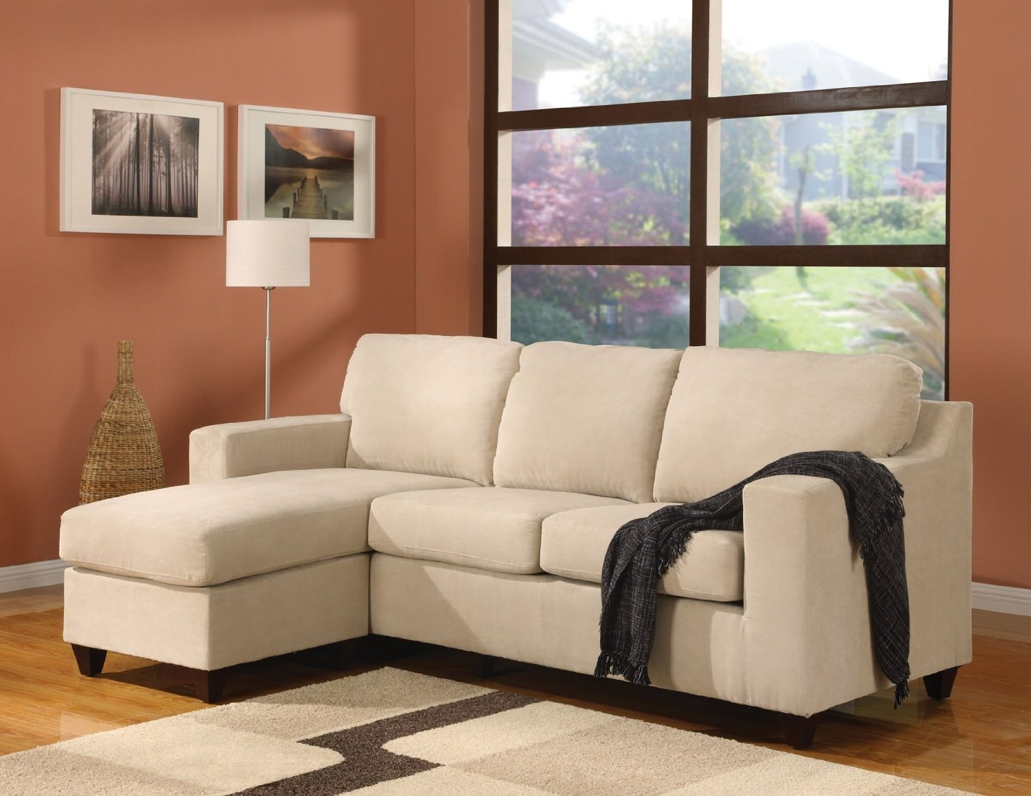 Small Couches With Chaise Regarding Famous Leather Loveseat With Chaise 72 Inch Sofa Sectional Sleeper Sofa (View 10 of 15)