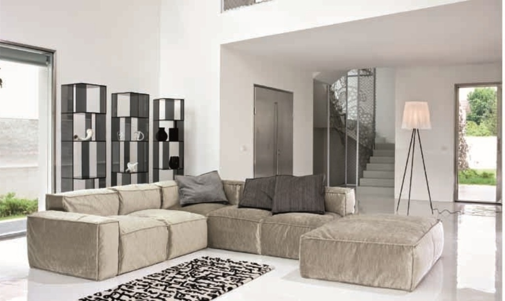 Small Modular Sectional Sofas Intended For Most Popular Modular Sectional Sofa For Small Spaces — Fabrizio Design (View 7 of 10)