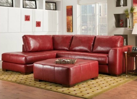 Small Red Leather Sectional Sofas Pertaining To Most Recently Released Red Bonded Leather 5Pc Modular Sectional Sofa W Storage Ottoman (View 7 of 10)