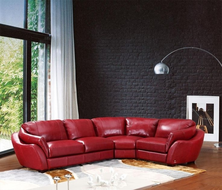 Small Red Leather Sectional Sofas Throughout Most Popular Awesome Best 25 Red Sectional Sofa Ideas On Pinterest Living Room (View 5 of 10)