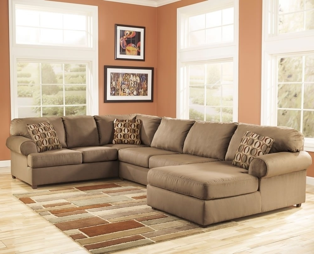 Small Sectionals With Chaise With Best And Newest Furniture: Pretty Collection Of Microfiber Sectional Sofa (View 14 of 15)