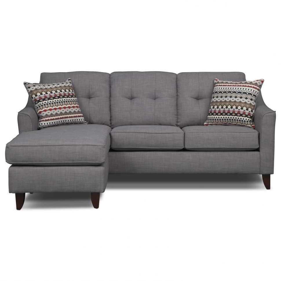 Small Sofas With Chaise Intended For Recent Sofas : Sectional Couch Gray Sectional Sofa Double Chaise (View 9 of 15)