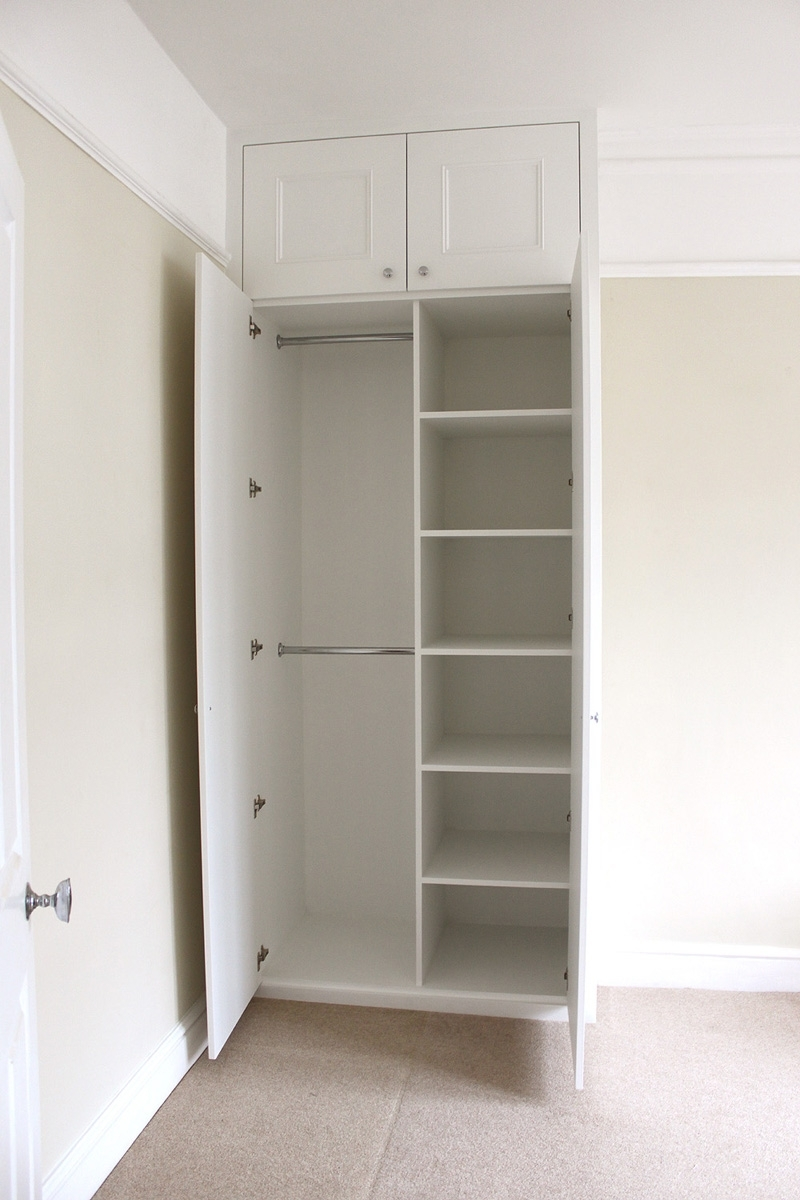 Small Wardrobes Inside Famous Small Wardrobe With Shelves White Triple Closet Single Wardrobes (View 14 of 15)