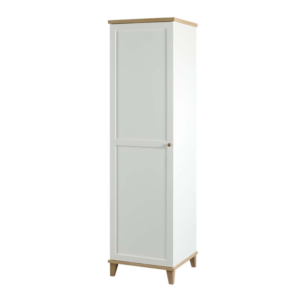 Small Wardrobes Pertaining To Most Up To Date Boston Lyon Wardrobe White + Ash 1 Door At Wilko (View 5 of 15)