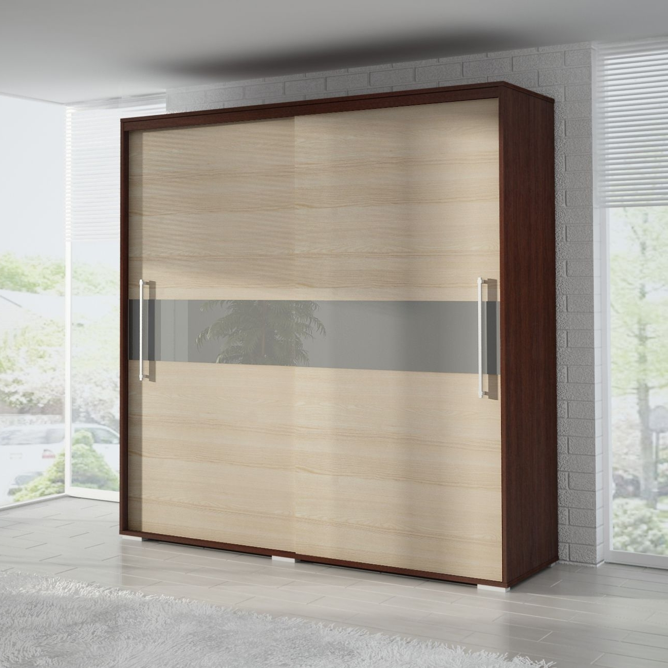 Small Wardrobes With Sliding Doors Wardrobe Closet Uk Oak Slim If Intended For Well Known Wardrobes With 2 Sliding Doors (View 13 of 15)