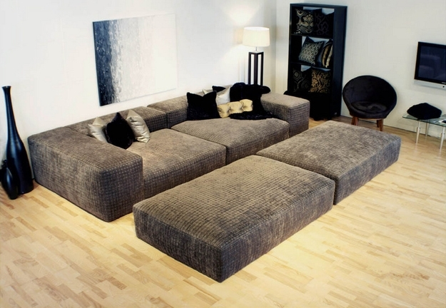 Sofa Beds Design: Attractive Ancient Wide Seat Sectional Sofas In Most Recent Wide Seat Sectional Sofas (View 5 of 10)