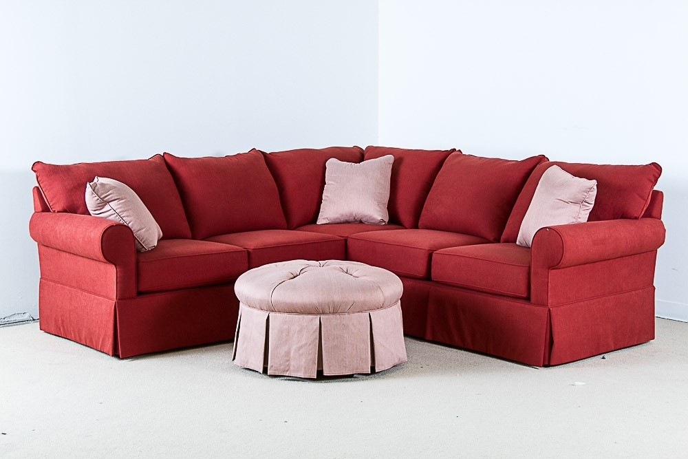 Sofa Beds Design: Mesmerizing Ancient Small Red Sectional Sofa For Best And Newest Red Sectional Sofas With Ottoman (View 9 of 10)