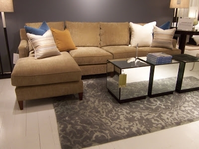 Sofa Beds Design: Mesmerizing Contemporary Mitchell Gold Clifton Regarding Widely Used Gold Sectional Sofas (View 9 of 10)