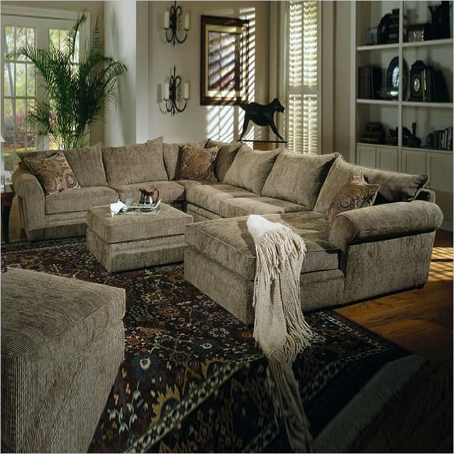 Sofa Beds Design: Outstanding Modern Chenille Sectional Sofa With Within Most Recently Released Green Sectional Sofas With Chaise (View 2 of 10)