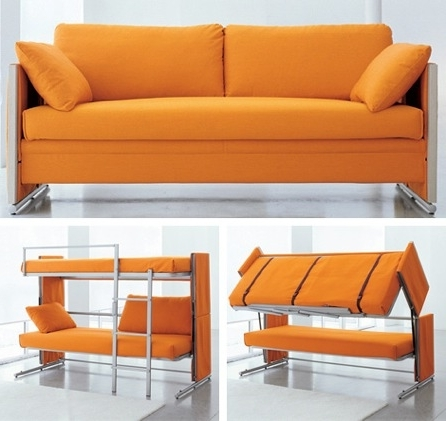 Sofa Bunk Beds Pertaining To Fashionable Sofa Converts To Bunk Beds Craziest Gadgets (View 6 of 10)