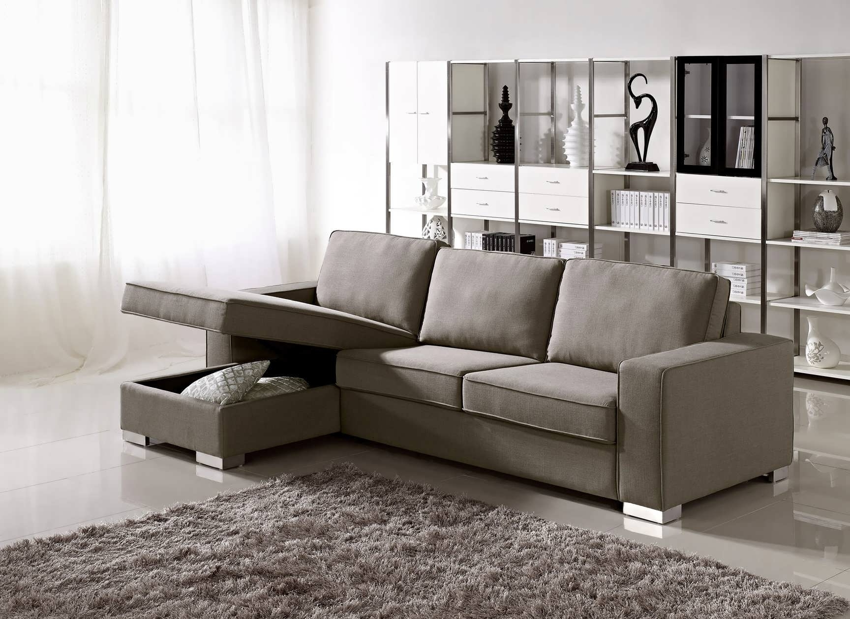 Sofa : Chaise Sofa Double Chaise Sectional Small L Shaped Couch Inside Popular Double Chaise Sectionals (View 10 of 15)
